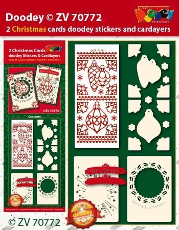 Doodey kaartenpakket kerstmis ZV70772 (Locatie: 4532)