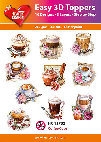 Hearty Crafts Easy 3D Toppers Coffee Cups HC12782