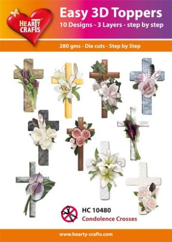 Hearty Crafts Easy 3D Toppers Condolence Crosses HC10480 (Locatie: K2)