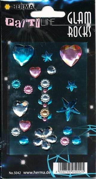 Herma stickers Glam Rocks Hearts and Stars 1 vel 5042 (Locatie: HE021)