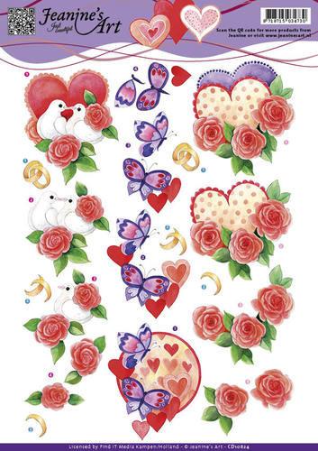 Jeanine's Art knipvel huwelijk CD10824 (Locatie: 4645)