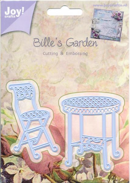 Joy! Crafts snij- en embosmal Bistro tafel en stoel 6002/0376 (Locatie: M008)