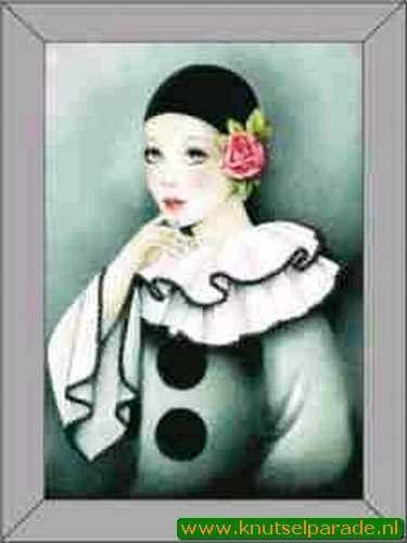 Le Suh 3D schilderij pierrot nr. 4135002 (Locatie: 6236)
