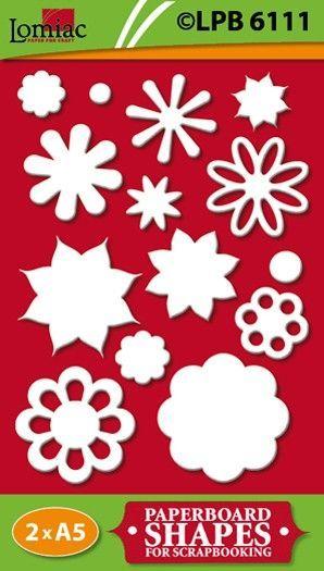 Lomiac kartonnen Bloemen LPB6111 (Locatie: 4831)
