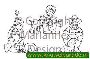 Marianne Design Clear stamp Little Sweethearts boy TC0815 (Locatie: NN020)