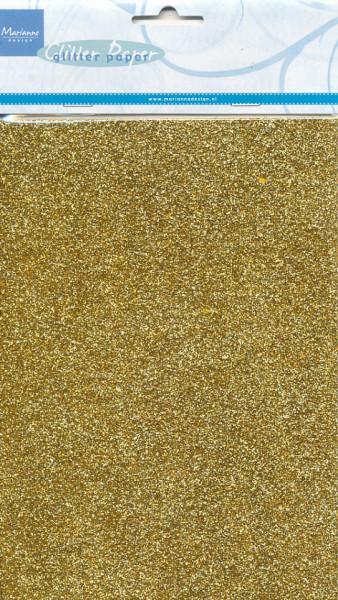 Marianne Design Glitterpapier A5 goud 5 vel CA3121 (Locatie: s1)