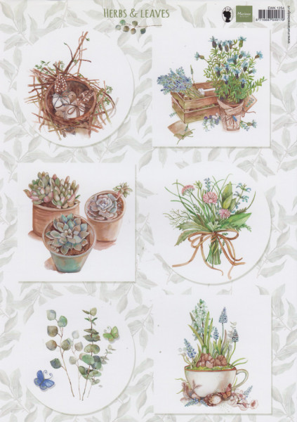 Marianne Design knipvel Herbs & Leaves EWK1254 (Locatie: 2932)