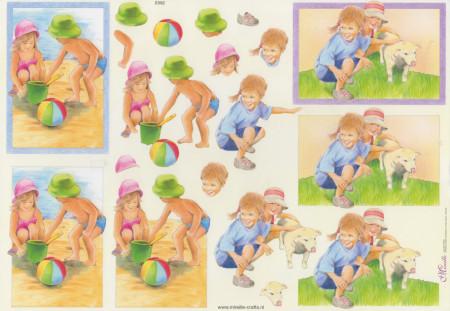 Mireille kinderen knipvel nr E592 (Locatie: 1515)