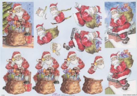 Mireille knipvel kerstman X105 (Locatie: 2763)