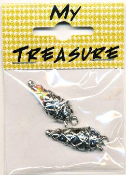 My Treasure bedel nikkelkleur IJshoorn 2 stuks 04113 (Locatie: K3)
