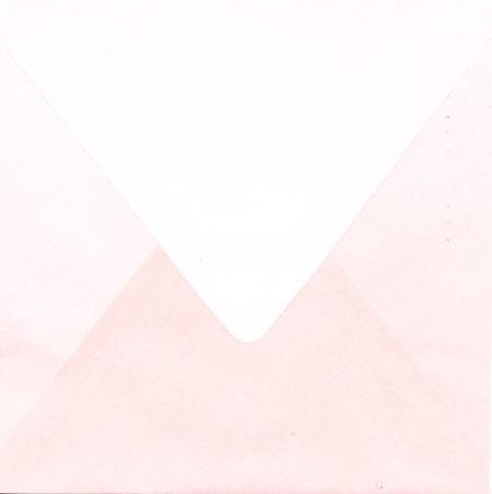 Regenboogenvelop roze 14x14 cm (Locatie: k3)
