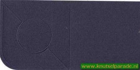 Romak vierkantekaart vouw rond blauw (Locatie: MM001 )
