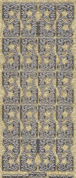 Starform sticker glitter goud / zilver 7063 (Locatie: HH109)