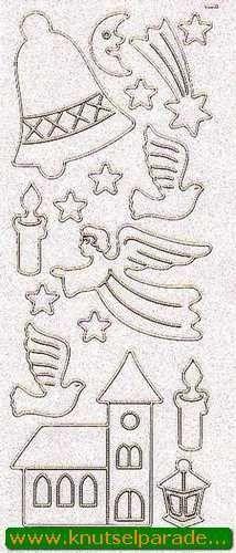 Starform sticker glitter kerst goud 9550 (Locatie: X035)