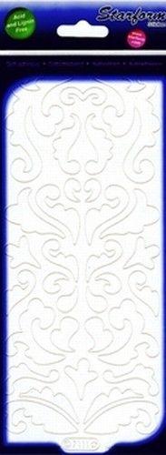 Starform sticker velvet barok krullen white 7111 (Locatie: B364)