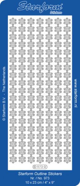 Starform sticker wit kerst 973 (Locatie: K236 )