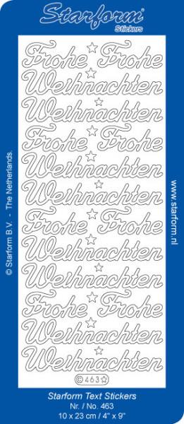 Starform sticker zilver kerst 463 (Locatie: G344)