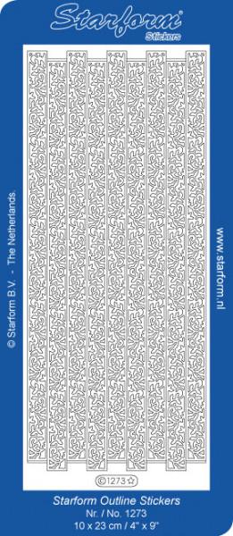 Starform sticker zilver randje 1273 (Locatie: L213)