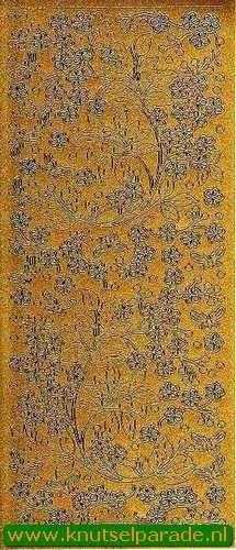 Starform stickervel goud bloemen 123 (Locatie: F093)