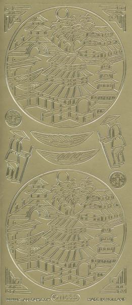 Starform stickervel oosters goud 1163 (Locatie: u065)