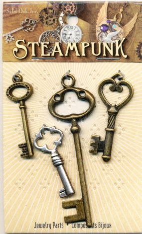Steampunk bedels sleutels STEAM025 (Locatie: K3)
