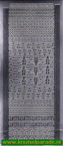 Sticker zilver randjes 61 2716 (Locatie: J317 )