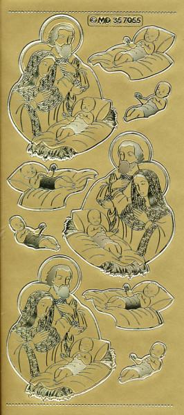 Stickervel goud geboorte Jezus MD357055 (Locatie: e260)