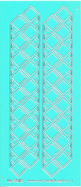 Stickervel mintgroen/zilver nr. 3012 (Locatie: K172 )