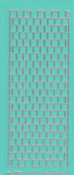 Stickervel mintgroen/zilver nr. 3020 (Locatie: K151)