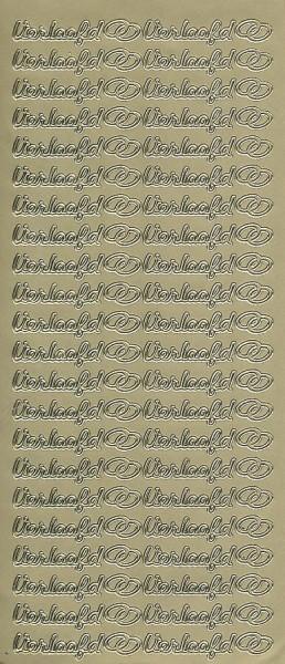 Stickervel verloofd goud (Locatie: u241 )