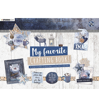 Studio Light A4 Crafting Book Snowy Afternoon STANSBLOKSL95