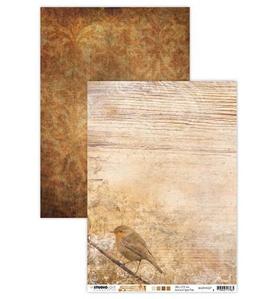 Studio Light achtergrondpapier dubbelzijdig bedrukt Wonderful Autumn BASISWA327 (Locatie: 1327)