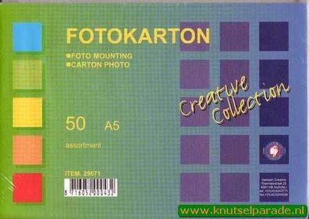 Vaessen fotokarton A5 ass. 50 vel 29671 (Locatie: 3RM1 )