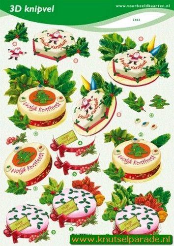 Voorbeeldkaarten knipvel kerst 2483 (Locatie: 4608)