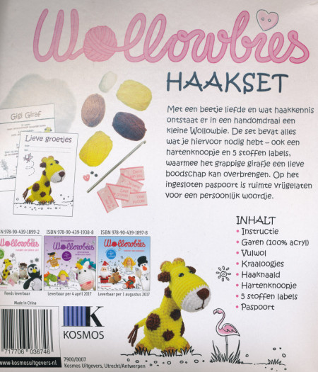 Wollowbies Haakset - Gigi Giraf
