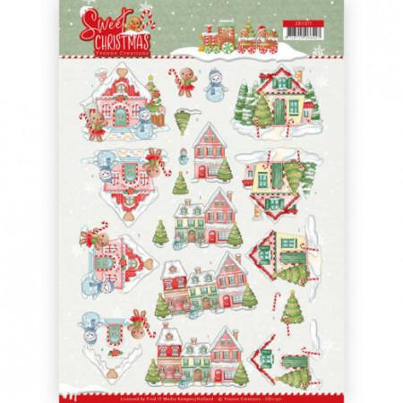 Yvonne Creations knipvel kersthuizen CD11371 (Locatie: 5563)