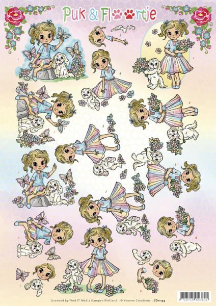 Yvonne Creations knipvel Puk en Floortje CD11143 (Locatie: 2831)