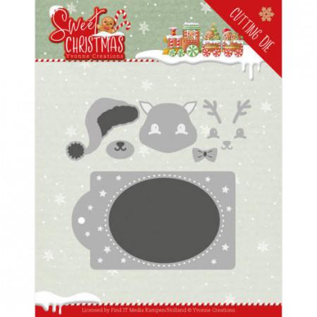 Yvonne Creations snijmal Sweet Christmas Deer YCD10180 (Locatie: k95)