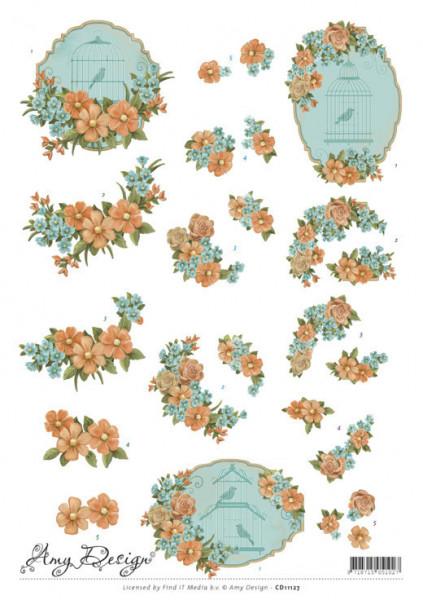 Amy Design knipvel bloemen CD11127 (Locatie: 2728)