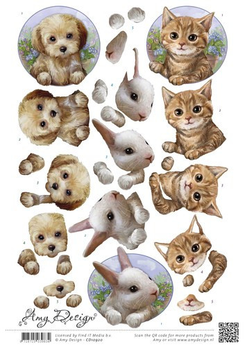 Amy Design knipvel huisdieren CD10920 (Locatie: 2308)