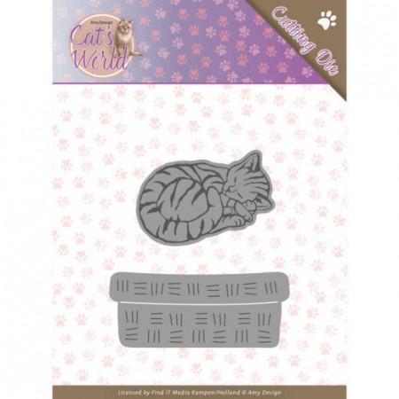Amy Design snijmal Sleeping Cat ADD10188 (Locatie: M036)