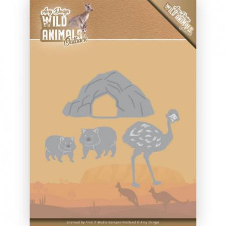 Amy Design snijmal Wild Animals - Emu and Wombat ADD10207 (Locatie: M050)