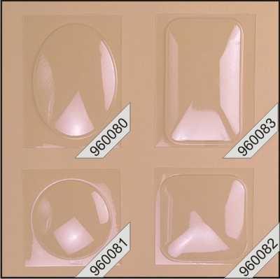 Bolblister voor 3D-kaart ovaal 25 stuks 960080 (Locatie: K3)