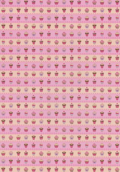 Decoratiepapier cupcakes DV94501 (Locatie: 2650)
