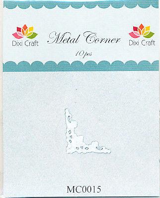 Dixi Craft Metal Corner 22 mm x 22 mm wit 10 stuks MC0015 (Locatie: B383)