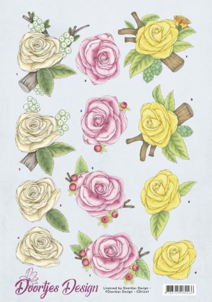 Doortjes Design knipvel bloemen CD11247 (Locatie: 4834)