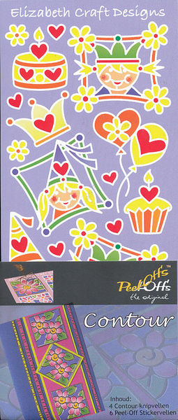 Elizabeth Craft contourknipvel en stickerpakket 'Peel-Offs' (Locatie: M13)