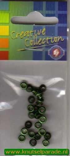 Eyelets metallic donker groen 25 stuks nr. 20413/02 (Locatie: 5RC1 )