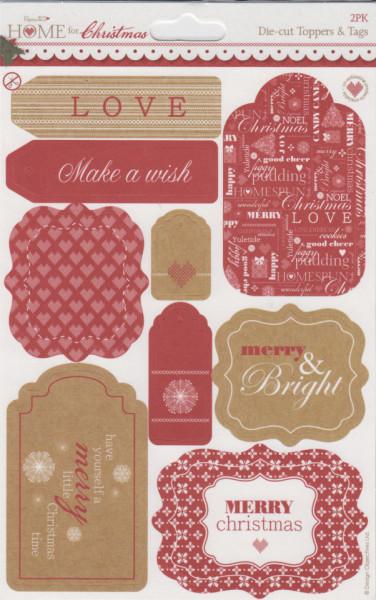 Gestanste Labels (2 vel) Home for Christmas 157916 (Locatie: 1124)