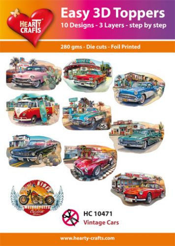 Hearty Crafts Easy 3D Toppers - Vintage Cars HC10471 (Locatie: K2)